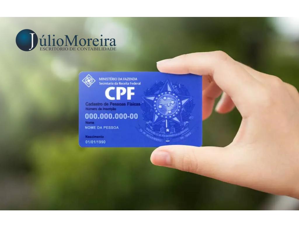 CPF: Receita libera inscrição sem custo e por e-mail
