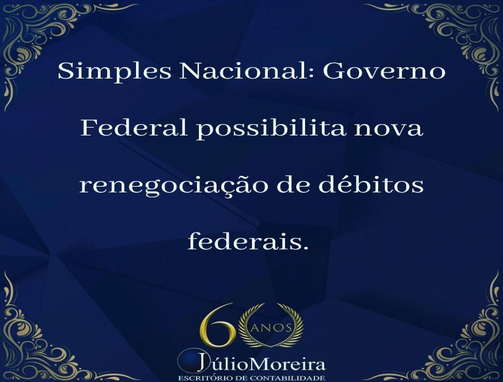 Renegociação com débitos federais.