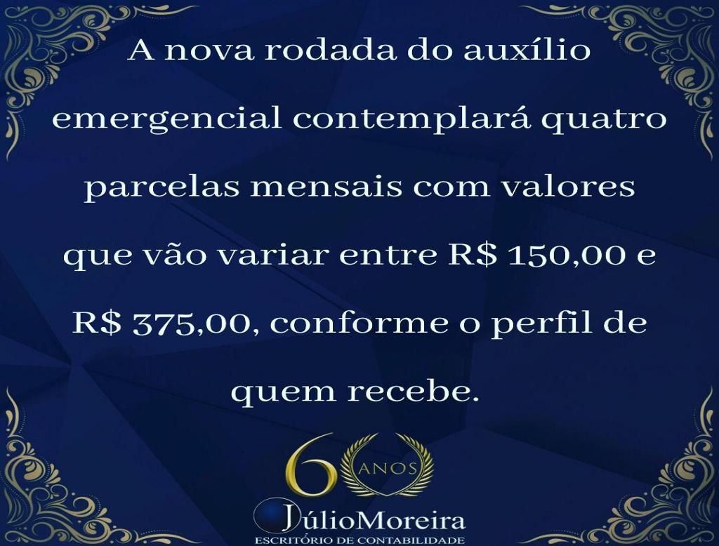 O Presidente Jair Bolsonaro anunciou que os pagamentos da nova rodada do auxílio emergencial começar