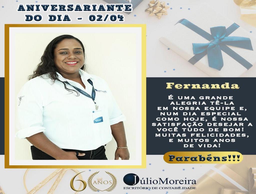 Aniversariante do dia! Fernanda Batista