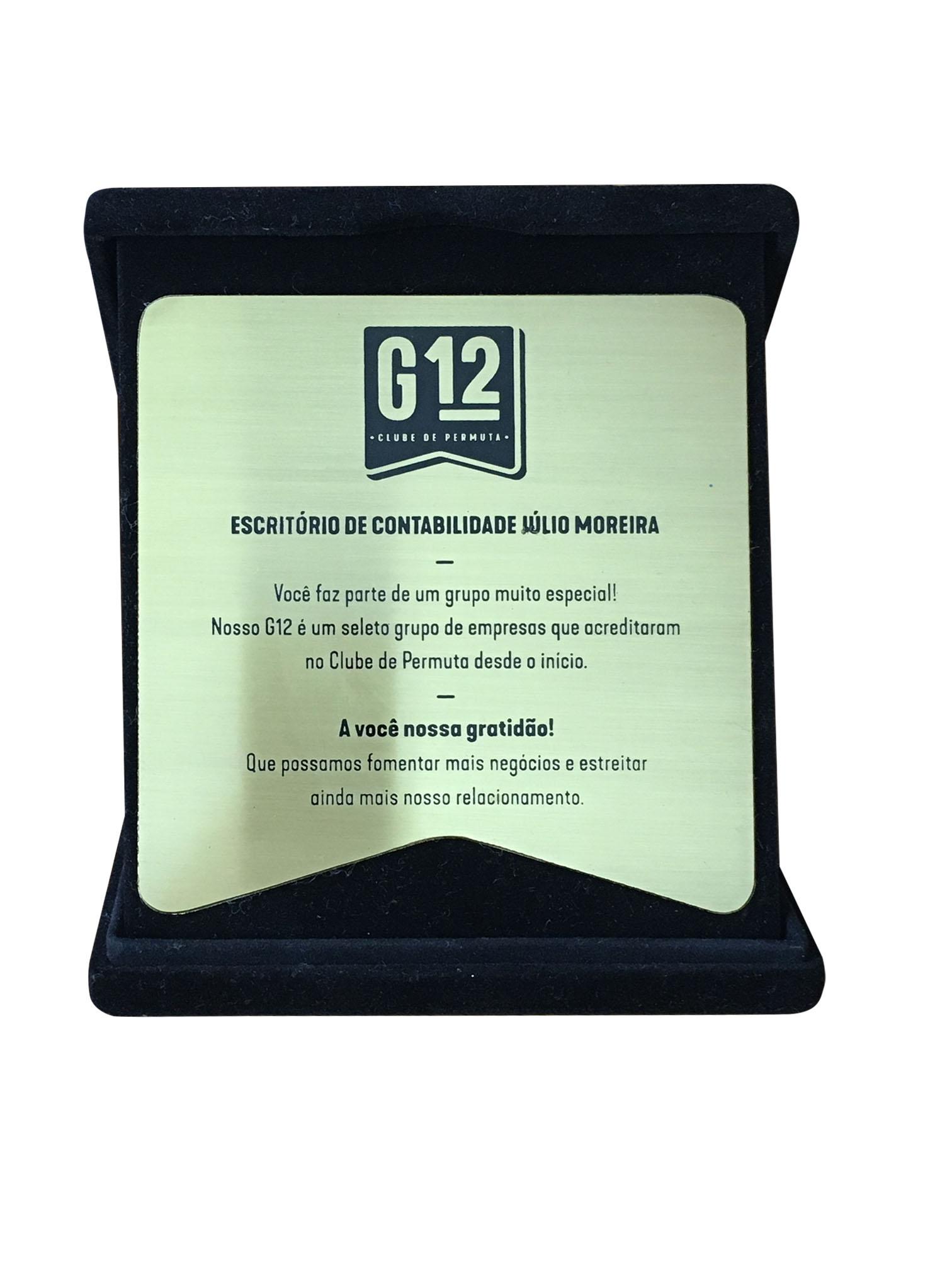 Premiação G12: o Escritório Júlio Moreira faz parte do seleto grupo de 12 primeiras empresas a ingressar no Clube de Permuta
